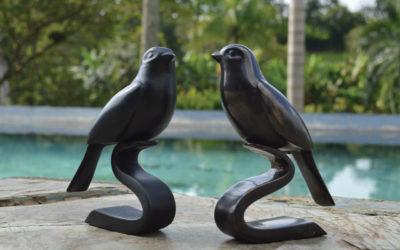 Azulejo Bird Sculpture