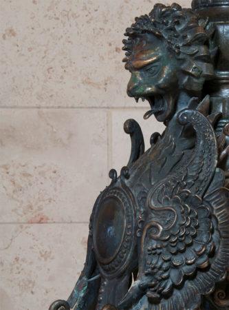 filter_Lion Finial Metal Sculpture